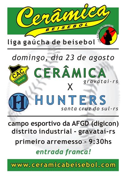 Cartaz - Cerâmica x Hunters - 23/08/2009