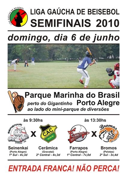 Cartaz - LGB Semifinais 2010 - 06/06/2010